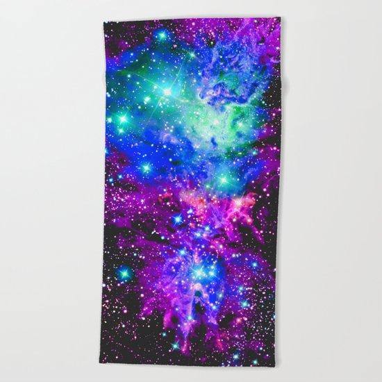 Fox Fur Nebula Galaxy Beach Towel