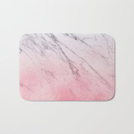 Cotton candy marble Bath Mat