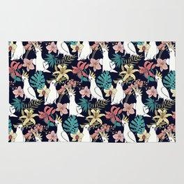 Cockatoo & Tropical Flora Rug