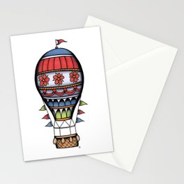 Traditional Hot Air Balloon Tattoo Stationery Cards