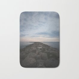 The Jetty at Sunset - Vertical Bath Mat