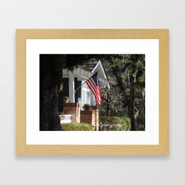 Patriotism in Conway Framed Art Print