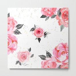 bright rose on white Metal Print