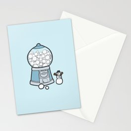 Snow Ball Gum Ball Stationery Cards