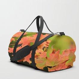 Fall Autumn Maple Leaves Red Orange Autumnal Colors Duffle Bag