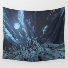 Blue Madness Wall Tapestry