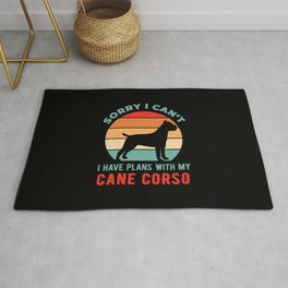 Funny Cane Corso Rug