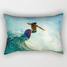 Surfer's Flow Rectangular Pillow