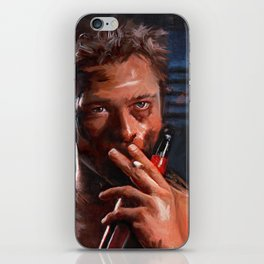 Tyler Durden Shirtless With Beer - Fight iPhone Skin
