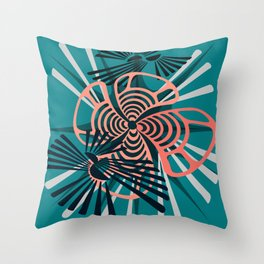 In Motion Emotion Throw Pillow