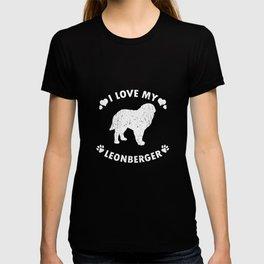 I Love My Leonberger Puppy Dog Gift Idea T-shirt