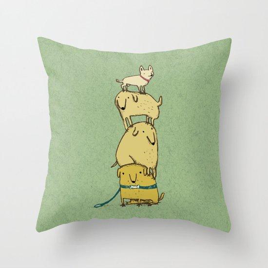 Puppy Totem Throw Pillow