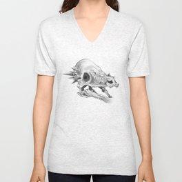Pachycephalosaurus skull Unisex V-Neck