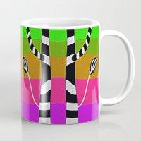 discount Mugs featuring Zebra Trees - Reflex by Roxana Jordan