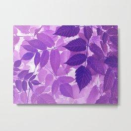 Ultra Violet Purple Leaves Metal Print