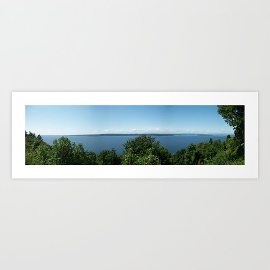 View From The Hill Art Print