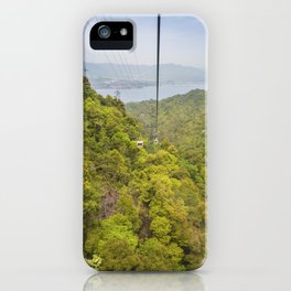 Riding the ropeway on Miyajima Island in Japan iPhone Case