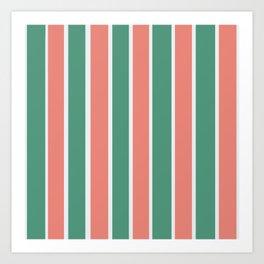Sweet Pink & Green Mints  Art Print
