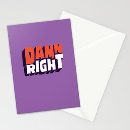 Damn Right Stationery Cards