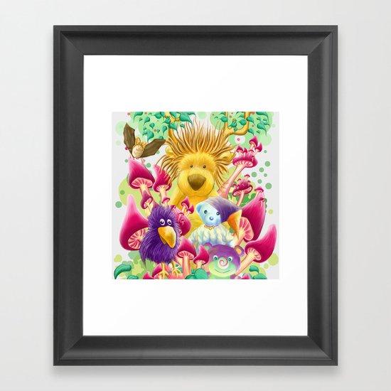 Moka, the magic lion Framed Art Print