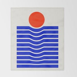Going down-modern abstract Throw Blanket