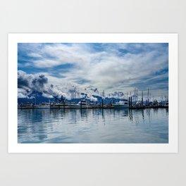 Seward Boat Harbor, Alaska Art Print