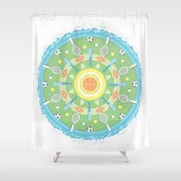 play outdoors mandala Shower Curtain