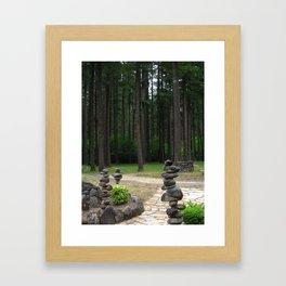 Stacking Rocks Framed Art Print