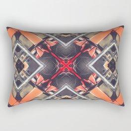 Orange Automotive Abstract Rectangular Pillow