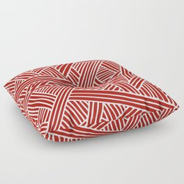 Abstract Navy Red & White Lines and Triangles Pattern- Mix and Match with Floor Pillow