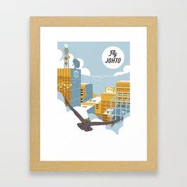 Fly Johto Framed Art Print