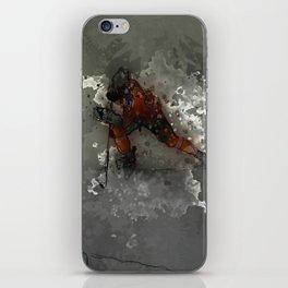 On Ice - Ice Hockey Player Modern Art iPhone Skin
