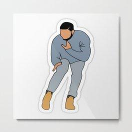 Drake Dancing Hip Hop Metal Print