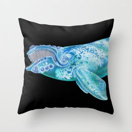 Right Whale Throw Pillow