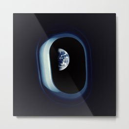 Space Travel Earth Metal Print