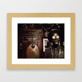 James Joyce / Temple Bar Dublin Framed Art Print