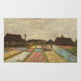 """Vincent van Gogh """"Bulb Fields, also known as Flower Beds in Holland"""" Rug"""