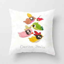 Pajaritos Throw Pillow
