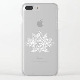 Yoga Buddha India Ganesha Chakra Namaste Gift Clear iPhone Case