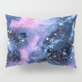 Twinkling Pink Watercolor Galaxy Pillow Sham