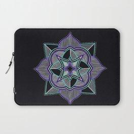 Teal and Purple Mandala Laptop Sleeve