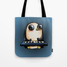 Penguin With Keyboard Tote Bag