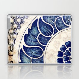 Blue Oriental Vintage Tile 05 Laptop & iPad Skin