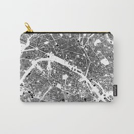 Paris Map Schwarzplan Only Buildings Carry-All Pouch
