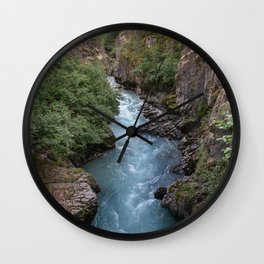 Alaska River Canyon - I Wall Clock