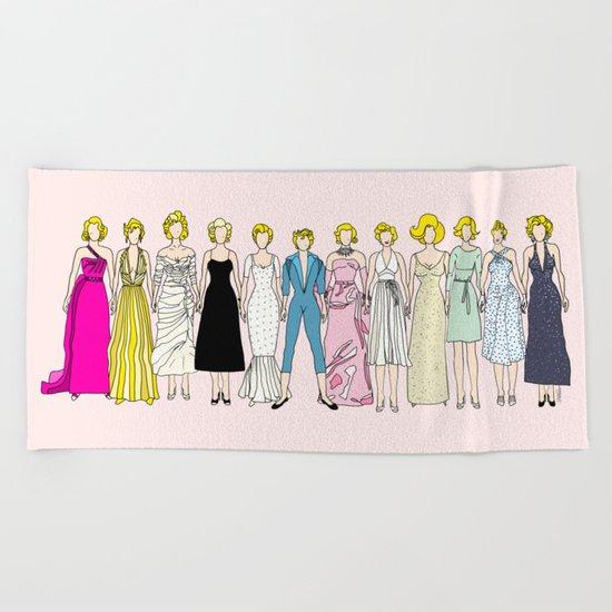 Marilyn Fashion Pink  Beach Towel