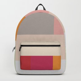 Abstract Multicolor Checkerboard Backpack