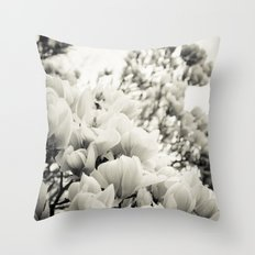 A Waterfall of Flowers Throw Pillow