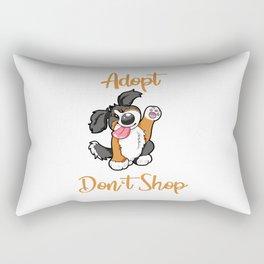Adopt Don't Shop Dog animal shelter gift present Rectangular Pillow