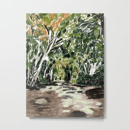 Forest Drawing Metal Print